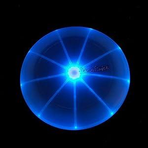 FlashFlight 185g L.E.D. Light-up Flying Disc, BLUE