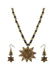 Avarna Terracotta Necklace Set Nsa0015 For Women (Gold )
