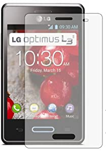 6 x Membrane Screen Protectors for LG E430 Optimus L3 II 2 - Crystal Clear, Retail Package with accessories