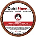 Waterproof Survival Fuel Disks - Pack of 20 - 10 Hour Burn Time Total - Emergency Camp Stove Wood & Parafin Quick Stove Refills - Great Addition To Disaster Prepper Food Supply