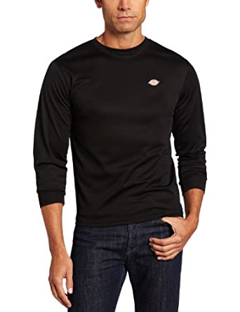 Dickies Men's Hybrid Mesh Crew Shirt, Black, Large