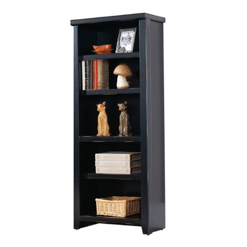 Kathy Ireland Home by Martin Furniture Tribeca Loft Black Bookcase