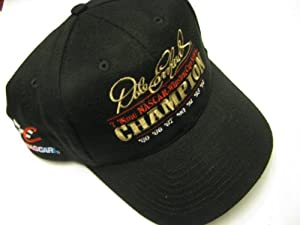 Dale Earnhardt Sr #3 Seven 7 Time Champion Champ With Championship Dates Black Hat... by Chase Authentics