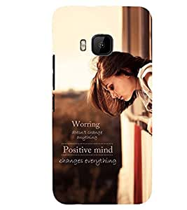 Printvisa Girl With A Positive Quote Back Case Cover for HTC One M9::HTC M9::HTC One Hima