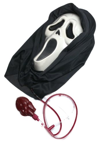Ghost Face Bleeding Mask Costume Accessory by Morris Costumes
