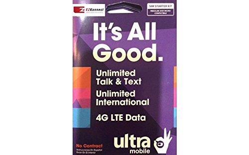 Ultra Mobile Micro Sim Card Starter Kit- Brand New