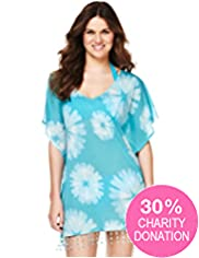 Fashion Targets Tie Dye Print Kaftan