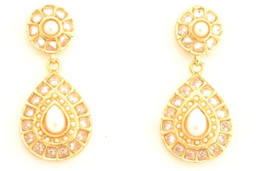 Fashion Balika Fashion Jewelry Gold-Plated Dangle & Drop Earring For Women Gold-BFJER073 (Yellow)
