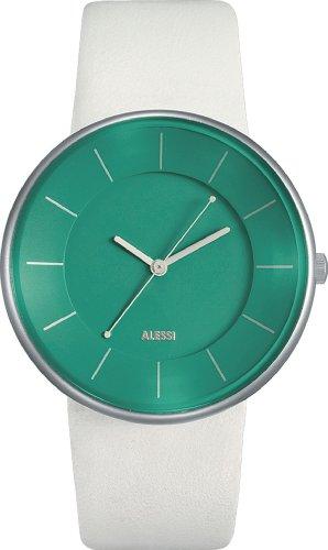 Alessi Unisex AL8009 Luna White Leather Strap Watch