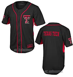Buy Texas Tech Red Raiders Mens Fielder College Baseball Jersey by Colosseum by Colosseum