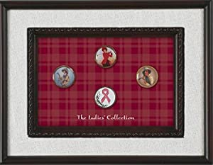 Framed Ladies Ball Marker Collection by Golf Logo Collections