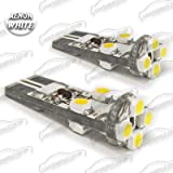 2x 8 SMD LED XENON WHITE NO ERROR CANBUS 194 501 921 T10 W5W WEDGE SIDELIGHTS BULBS WILL FIT HONDA CIVIC TYPE R (2007-2010)