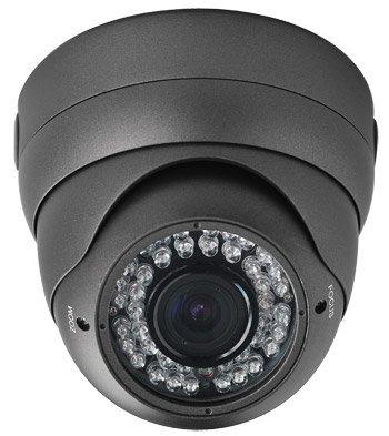 Hq-Cam® Cctv Security Camera Sony Effio- 700 Tvl, 42 Ir, 2.8~12Mm Wide Angle Zoom Vari-Focal Lens Metal Dome Camera For Indoor & Outdoor 42 Ir Led Color Home Security Surveillance Dome Camera,(Real 700Tvl, Osd Menu, High Quality High Resolution)