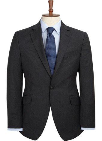 Austin Reed Contemporary Fit Sharp Charcoal Jacket REGULAR MENS 46