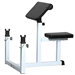 Yaheetech Fitness Preacher/Arm Curl Adjustable Weight Bench Attachment Dumbell Bicep