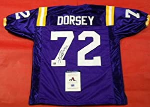 Autographed Glenn Dorsey Jersey - Lsu Tigers Aaa - Autographed College Jerseys by Sports+Memorabilia