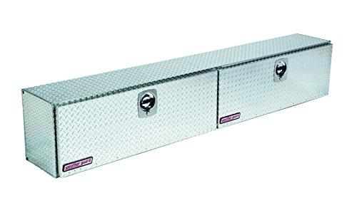 396-0-02 Weather Guard Hi Side Aluminum Truck Toolbox - Double Door w/ Brackets (2 Door Truck Toolbox compare prices)