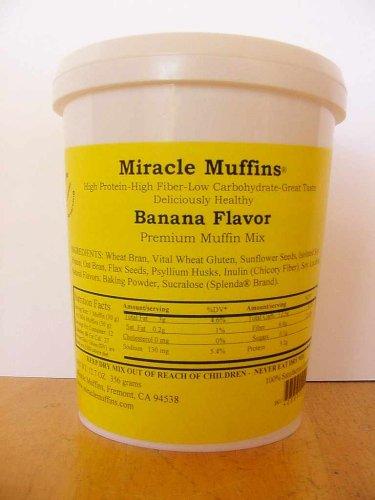 Miracle Muffins Mix - Banana - Make 12/36 muffins - Splenda