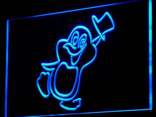 ADV PRO i822-b PENGUIN Cartoon Animals Display Neon Light Sign