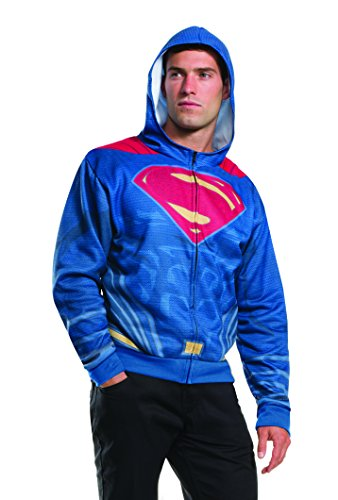 Rubie's Men's Batman V Superman: Dawn Of Justice Superman Costume Hoodie at Gotham City Store