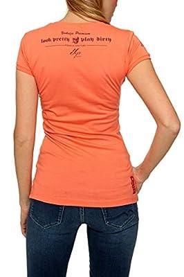 Yakuza Premium Damen Shirt Motiv T-Shirt FORBIDDEN FRUITS, Farbe: Aprikot