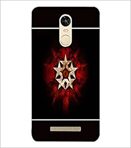 PrintDhaba Star Pattern D-1319 Back Case Cover for XIAOMI REDMI NOTE 3 PRO (Multi-Coloured)