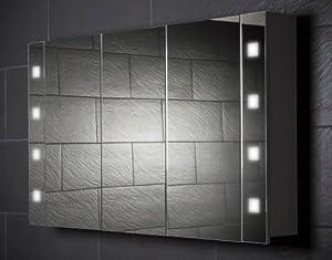 spiegelschrank galdem cube120 gro er badezimmerschrank 120cm 3 t rig mit beleuchtung t5. Black Bedroom Furniture Sets. Home Design Ideas