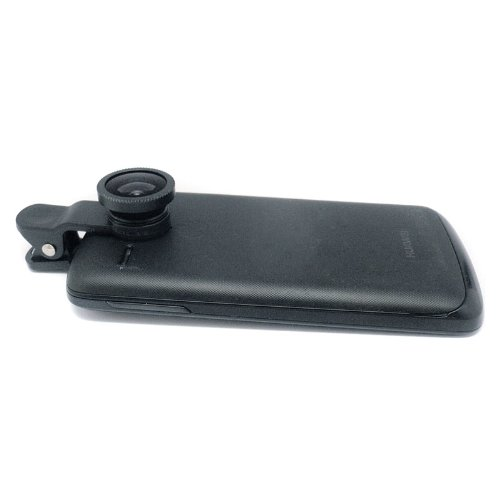 Docooler Universal Clip-On 3 In 1 Fisheye Wide Angle Macro Camera Lens For Iphone 5 5S 4 4S Samsung Htc (Black)
