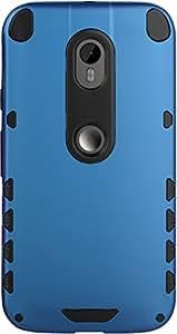 Moto G3 Case, DEFENDER Hard Dual Layer Bumper Back Case Cover For Motorola Moto G3 (Blue) - By DEFENDER