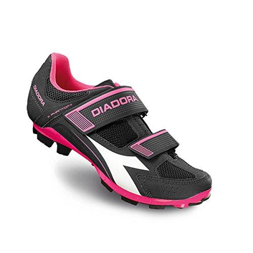 Diadora Women's X-Phantom II Mountain Biking Shoe - 170228-C5202 (Black/White/Pink Fluo - 42)