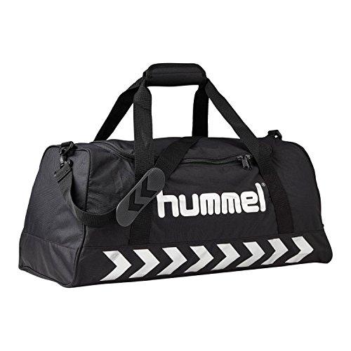 Hummel 40-957-2250_Black/Silver_40 x 21 x 23 cm, 19 Liter - Borsa sportiva Uomo, colore: Nero nero