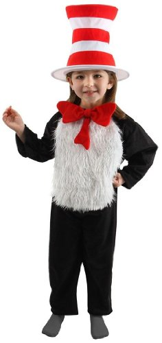 Dr. Seuss The Cat in the Hat Deluxe Kids Jumpsuit Costume