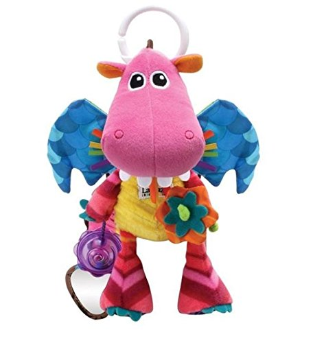 Lovely Kids Baby Gift Plush Toy Colorful Fiery Dragon Creative Ball Bed Bell Hang Mobile 1Pc front-957958