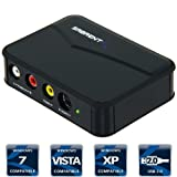 Sabrent VD-GRBR USB 2.0 Video & Audio Capture DVD Maker w/Real Time TV Display Dual Export with capture software