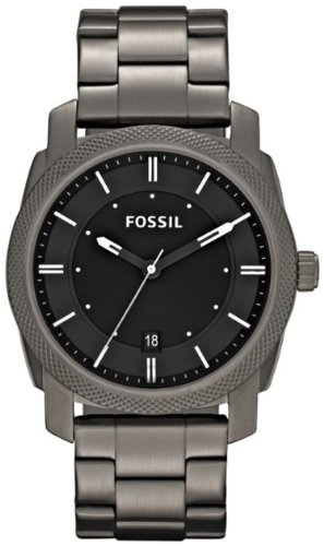 FOSSIL Machine Three Hand Stainless Steel Watch - Smoke