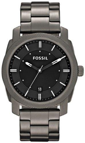 FOSSIL Machine Three Hand Stainless Steel Watch - Smoke