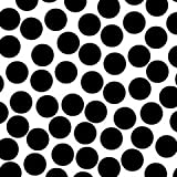 "Canvas Corp Paper 12""x 12"" Black & White Big Dot"