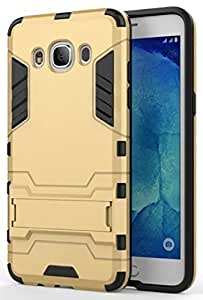 Red Qube ShockProof Back Grip Cover with Stand for Samsung Galaxy J5 (2016) Gold