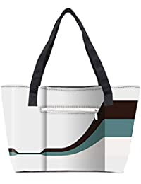 Pack Of 2 Black Pathway In White Background Combo Tote Shopping Grocery Bag With Coin Pencil Purse