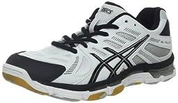 ASICS Women\'s GEL-Volleycross 4 Shoe,White/Black/Silver,13 M US