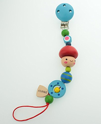 Wooden Boy Pacifier Clip (ADB)