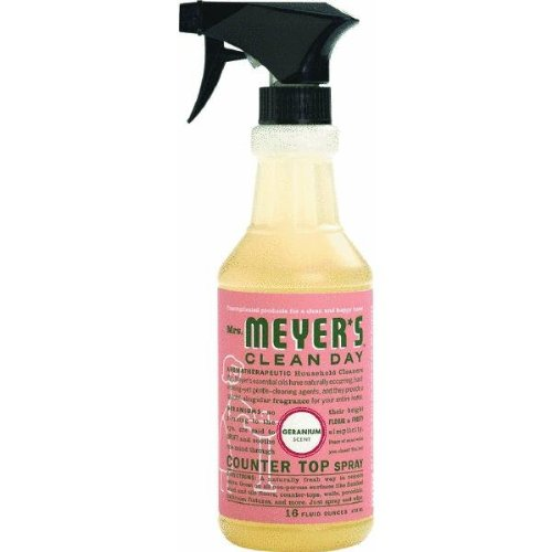 Mrs. Meyer's Clean Day Counter Top Spray, Geranium, 16 Ounce Bottle