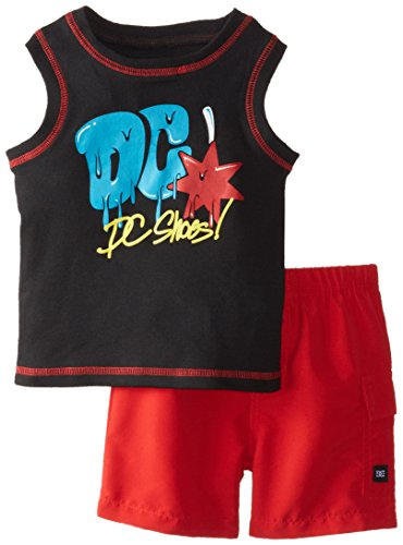 DC Shoes Co Baby Boys' Black Tee with Red Shorts