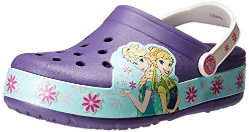 Crocs Frozen Fever Light-Up Clog (Toddler/Little Kid), Blue Violet, 8 M US Toddler