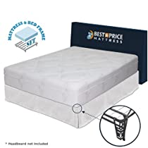 "Hot Sale 12"" Memory Foam Mattress + Bed frame Set - No box spring needed - queen"
