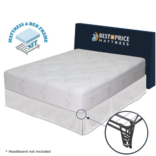 12 Memory Foam Mattress Bed Frame Set No Box Spring Needed California King Best Deals