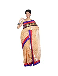MISHELL Cotton Kaantha Stich Light Peach Traditional Saree - B00PMWN1CA