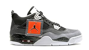 Air Jordan 4 Retro (Fear Pack) Black/White-Cool Grey-Pr Pltnm (9)