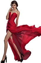 Hot Sale eDressit 2013 New Strapless Ruched bodice Red Evening Dress (00120502)