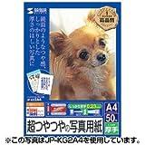 サンワサプライ インクジェットデジカメ写真用紙(超光沢・厚手) JP-KG2A3N